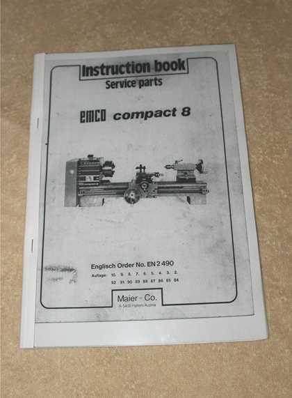 emco compact 8 lathe manual pdf