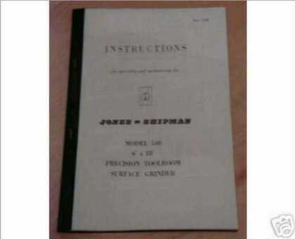 Jones shipman 540 manual
