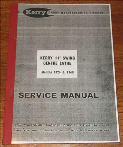 1 kerry engine lathe, max. 1500 rpm, 1124 machine tools.