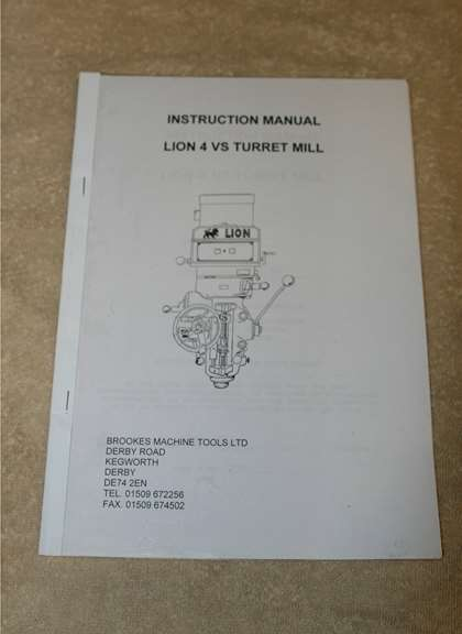milling machine manual pdf
